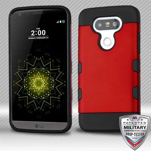 MyBat TUFF Trooper Case for LG G5 - Titanium Red/Black