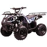 "125cc Four Wheelers 7"" Tires ATVs, Black"
