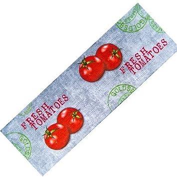 Teppich-Läufer Waschbar rutschfest | Tomaten Modern Grau 50x150 ...