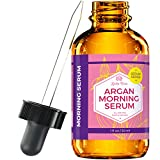 morning Argan Morning Serum by Leven Rose, 100% Pure Organic Natural Brightens Complexion Naturally Stimulates Collagen and Elastin Reduces Fine Lines and Wrinkles 1 oz