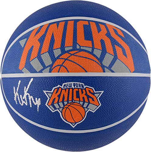 Kevin Knox New York Knicks Autographed Spalding Courtside Logo Basketball - Fanatics Authentic Certified - Knicks Autographed Basketball