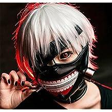 MACTING Tokyo Ghoul Kaneki Ken Cosplay Mask Halloween Party Cool Mask Prop Zipper Black, Free by MACTING