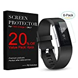 Image of Hotodeal Fitbit Charge 2 Screen Protector (6 Pack), Invisible HD Ultrathin Charge 2 TPU Sreen Protector, Anti-scratch Clear Protective Films