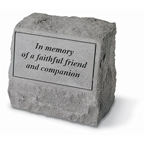 Design Toscano In Memory of a Faithful Friend and Companion Cast Stone Pet Memorial Statue ()