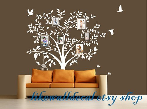 photo-frame-tree-with-leaf-photogragh-showing-bird-birdcase-art-decals-wall-sticker-vinyl-wall-decal