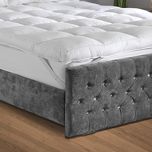 Bedical Care 2'' Thick 300 Thread Count 100% Cotton Hypoallergenic Down Alternative Mattress Topper with Secure Anchor Bands, Queen by Bedical Care
