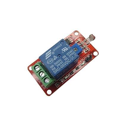 MFMYUANHAN - Relé de Sensor Sensible a la luz LSR de 5 V ...