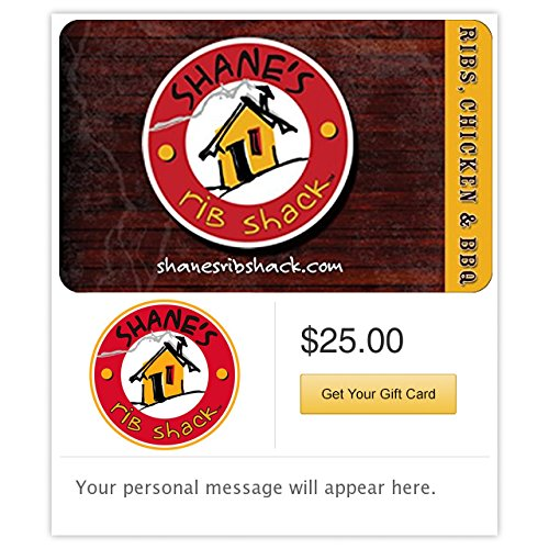 Shane's Rib Shack - E-mail - Online Print Out Gift Cards