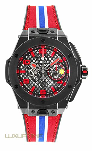 Hublot Big Bang 401.CX.1123.VR Ferrari Leather Skeleton Ceramic Limited Edition of 1000 Grid Dial