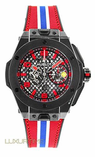 Hublot Big Bang 401.CX.1123.VR Ferrari Leather Skeleton Ceramic Limited Edition of 1000 Grid Dial
