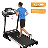 ANCHEER Folding Treadmill, Cardio Training Electric Motorized Running/Walking Machine for Home Bodybuilding (Balck) (Black)