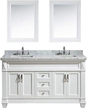 Design Element Dec059c W W Hudson 61 Inch Bathroom Vanity Set In White Amazon Com