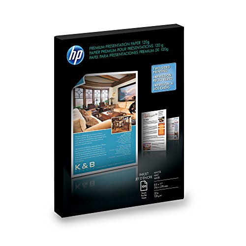 HP Premium Presentation Paper for Inkjet Printer, Matte, 8.5x11, 100 Sheets - Matte Coated Paper