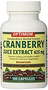 Optimum Tablets, Cranberry Juice Extract, 425 Mg, 100 Count (Pack of 2)