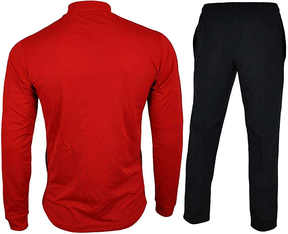 a55c7852e2ce Nike Mens Academy 16 Knit Dri Fit Red Black Football Warm Up Full Tracksuit  (XX-Large)  Amazon.co.uk  Clothing