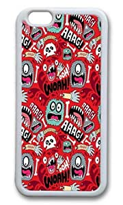 Apple Iphone 6 Case,WENJORS Awesome AAAGHHH PATTERN Soft Case Protective Shell Cell Phone Cover For Apple Iphone 6 (4.7 Inch) - TPU White by lolosakes