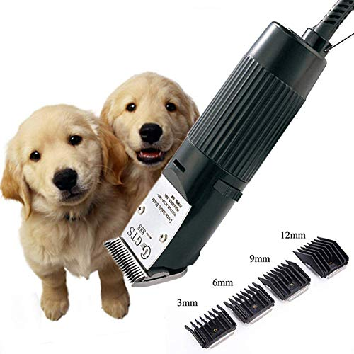 TSNLP Dog Clippers Low Noise Cordless Pet Grooming Clippers Rechargeable Electric Clippers Kit with Cleaning Brush and Combs Rechargeable Pet Hair Trimmer