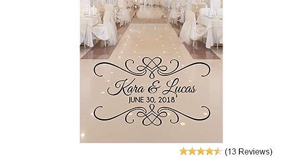 Personalized Wedding Dance Floor Decal Over 30 Colors /& Several Sizes VinylWritten Custom Dance Floor Sticker