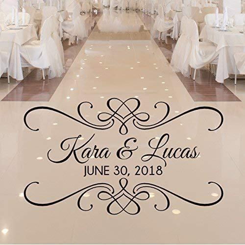 VinylWritten, Personalized Wedding Dance Floor Decal, Wedding Reception Decor, Over 30 Colors and Several Sizes