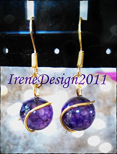 Purple Dream Dragon Vein Agate Earrings