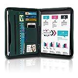 TYSON Padfolio, Resume Portfolio / Business Portfolio, PU Leather Document Storage, Zippered Portfolio Binder with Writing Pad, Card Holder & Phone Slot