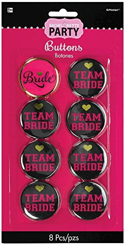 Bachelorette Button (Amscan 396266 Party Supplies, One size, Multi)
