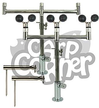 NGT Karpfenangeln Verstellbar Edelstahl 2X 2 Buzzer Bars 2X Banksticks Stabilisatoren