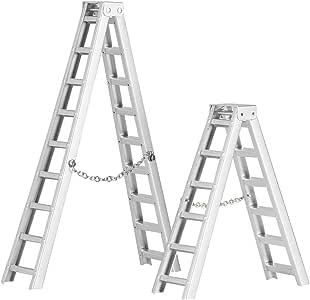 Zouminyy 2 Piezas de Control Remoto de Accesorios de vehículos Mini escaleras de simulación de Aluminio para 1/10 RC Crawler Car: Amazon.es: Hogar