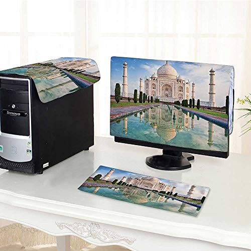 Computer dust Cover Collection Taj Mahal in Sunrise Light Agra India History Love Story Emperor Landscape dust Cover 3 Pieces Set /29