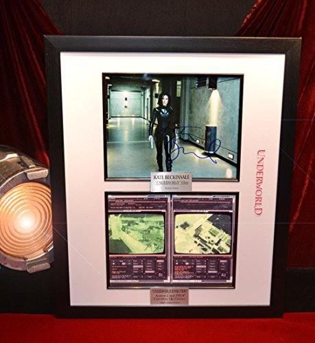 UNDERWORLD Screen-Used Prop, signed KATE BECKINSALE Autograph, Blu Ray DVD, COA, Frame, UACC]()