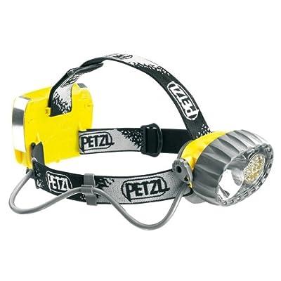 Petzl E72P Duo Hybrid étanche lampe frontale, halogène/14LED avec 3modes d'éclairage Constant, Jaune