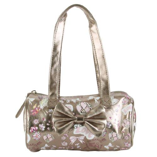 Ed Hardy Bags Purses - Ed Hardy Girls Alice Mini Barrel Bag- Silver