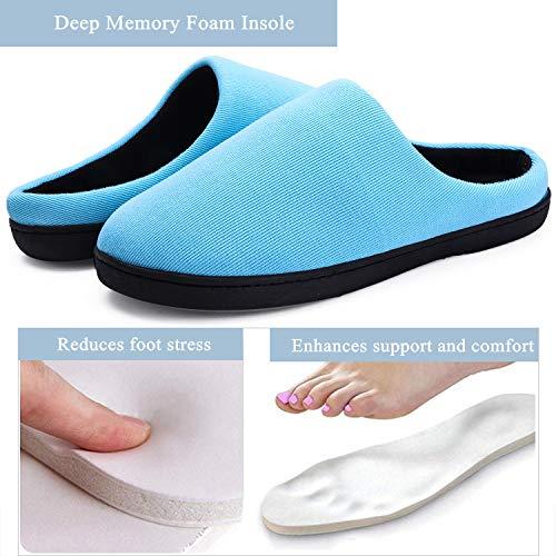 Casa Pantofole Scarpe Ciabatte Memory Uomo Da Caldo Yooeen Donna Per Foam Morbido Ultra Interno Inverno In Velluto Blu Autunno leggero qExI7dwpw