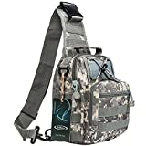 G4Free Outdoor Tactical Backpack,Military Sport Pack Shoulder Backpack for Camping, Hiking, Trekking,Rover Sling Pack Chest Pack(ACU Camouflage)