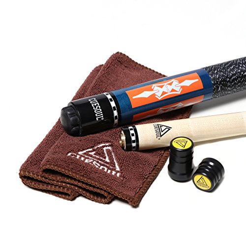 Black scorpion CUESOUL 2-Piece 57 Inch Pool Cue Stick 19-21oz Billiard cue with 13mm Cue Tips with Cleaning Towel & Joint Protector(C.QG.CSPC035) (CSPC010)