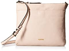 Calvin Klein key item north south pebble leather crossbody