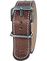 Bertucci B-128M Montanaro Survival Horween Leather Nut Brown 22mm Watch Band