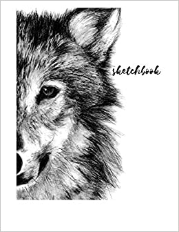 sketch journal wolf blank doodle draw sketch book