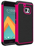 HTC 10 Case, HTC ONE 10 Case, kaesar [Shock Absorption] [Impact Resistant] [Slim Protective Cover Series] Hybrid Dual Layer Armor Defender Protective Case Cover for HTC 10 - Pink