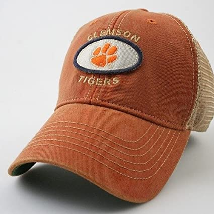 Image Unavailable. Image not available for. Color  Legacy Athletic Clemson  University Tigers Old Favorite Adjustable Trucker Hat f71e3207ae1
