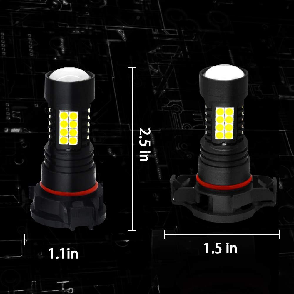 Viesyled 50W 9005 HB3 LED Fog lights Bulb High Power 6000K White HB3 LED Bulb for DRL Daytime Running Light Bulb Pack of 2-2 Yr Warranty