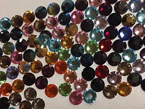 Maxima Crystal (Preciosa Crystals Rhinestone Nail Art Flatbacks (Asst colors))