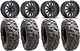 Bundle - 9 Items: Method Standard 14'' Wheels Black 30'' Roctane Tires [4x137 Bolt Pattern 12mmx1.25 Lug Kit]