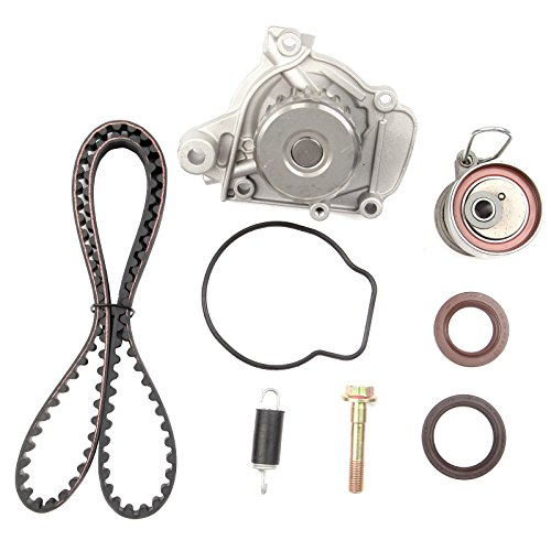 SCITOO Timing Belt Water Pump Gaket Tensioner Kits Fits Honda Civic GX DX LX VP EX HX 1.7L D17A1 D17A2 D17A6 D17A7 VTEC