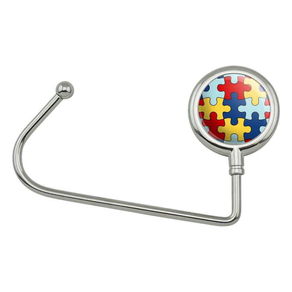 Autism Awareness Diversity Puzzle Pieces Purse Bag Hanger Holder Hook