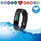 Fitness Tracker HR Smart Watch Heart Rate Sleep Monitor/IP67 Waterproof Sport Running Walking Pedometer/Activity Calories Step Counter Gift for Women Men Android phones Compatible with IPhone Samsung