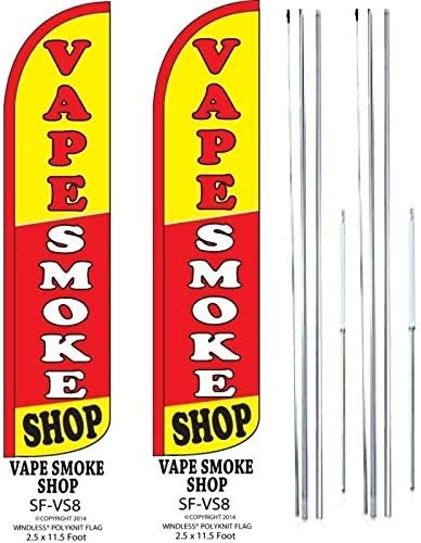 Smoke Shop Standard Size  Polyester Swooper Flag with Complete Full set