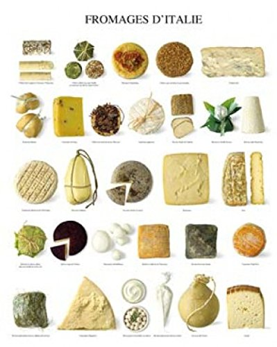Fromages D'Italie Italy Cheeses Poster Art Print