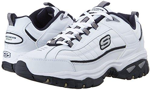 Skechers Sport Men's Energy Afterburn Lace-Up Sneaker,White/Navy,7.5 M US