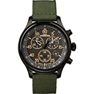 Timex Men's TW4B10300 Expedition Field Chrono Green/Black Canvas Strap Watch